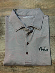 "Horn Legend University of South Carolina ""Script"" Small Stripe Polo - Garnet"