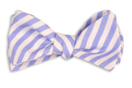 High Cotton Bowtie - Nautical Blue Linen Stripe