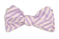 High Cotton Bowtie - Lavender Linen Stripe