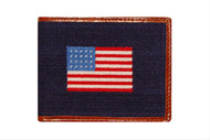 Smathers and Branson American Flag Needlepoint Bi-fold Wallet