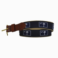 SC Flag Leather Tab Belt