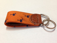 Craig Reagin Palmetto Key Fob - Orange and Navy