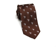 Palmetto Neck Tie - Brown