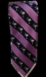Palmetto Neck Tie - Lavender/Navy