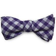 Private Stock Cotton Bow - Purple Gingham