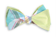 High Cotton Bow Tie - Mint Julep Madras Reversible