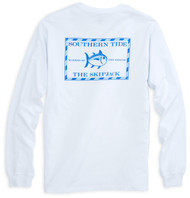 Southern Tide Long Sleeve Original Skipjack T-shirt - Classic White