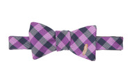 Southern Proper Feather Check Bow Tie: Purple
