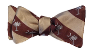 Palmetto Striped Bowtie - Khaki/Brown