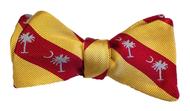 Palmetto Striped Bowtie - Yellow/Red