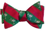Palmetto Striped Bowtie - Red/Green