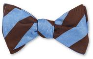 R Hanauer Brown/Blue Kensington Stripe Bowtie