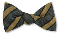 R Hanauer Green Wool/Silk St George Stripe