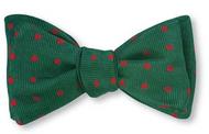R Hanauer Green/Red Woven Vero Dots Bowtie