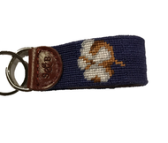 Smathers and Branson Cotton Boll Key Fob - Navy