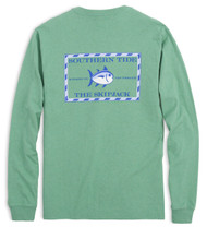 Southern Tide Long Sleeve Heathered Original Skipjack T-shirt - Pool Green