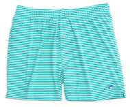 Southern Tide Performance Stripe Knit Boxers - Tropical Palm Green