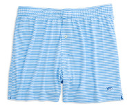 Southern Tide Performance Stripe Knit Boxers - Ocean Channel