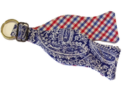 Craig Reagin Blue Paisley/Red Gingham Key Fob