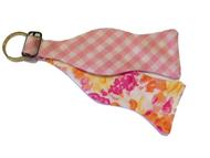 Craig Reagin Pink Gingham/Floral Key Fob