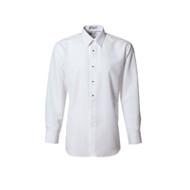 White Microfiber Tuxedo Shirt