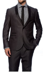 Charcoal 1-Button Shawl Tuxedo