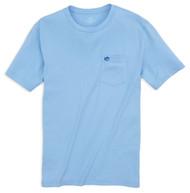 Southern Tide Embroidered Outline Skipjack Pocket T-Shirt - Sky Blue