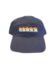 Smathers and Branson Lake Murray Needlepoint Hat - Navy