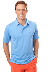 Southern Tide Driver Solid Polo - Ocean Channel