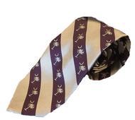 Palmetto Stripe Tie - Regal/Silver