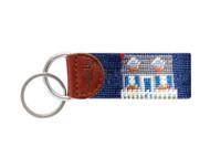 Smathers and Branson Needlepoint Key Fob - Beach Cottage
