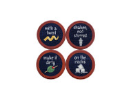 Smathers and Branson Needlepoint Coasters - Cocktail Order