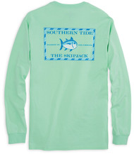 Southern Tide Long Sleeve Original Skipjack T-shirt - Offshore Green