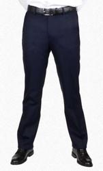 Berle Stretch Tropical Wool Dress Slack - Navy