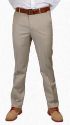 Berle Stretch Gabardine Wool Dress Slack - Tan