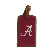 Smathers and Branson Needlepoint Luggage Tag - Alabama