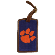 Smathers and Branson Needlepoint Luggage Tag - Clemson