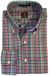 Craig Reagin Multi Check Sport Shirt - Blue