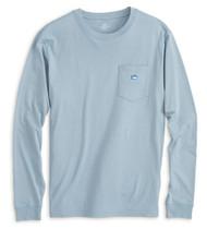 Southern Tide Embroidered Long Sleeve Pocket Tee - Tsunami Grey