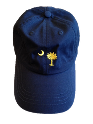 Craig Reagin Palmetto Hat - Navy with Gold Tree