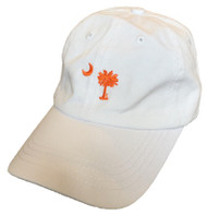 Craig Reagin Palmetto Hat - White with Orange Tree
