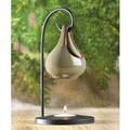 Moss Green Porcelain Tear Drop Oil Warmer