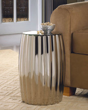 Dramatic Silver Ceramic Stool Or Side Table Aewholesale