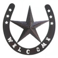 Iron Star and Horseshoe Welcome Wall Decor