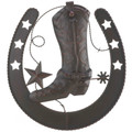 Horseshoe and Cowboy Boot Metal Wall Decor