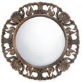 Ornate Wood Frame Flourish Wall Mirror