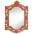 Vintage-Look Ornate Wood Frame Mirror
