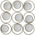 Modern Circles Wall Mirror Decor