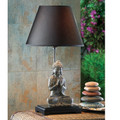 Dark Shade Buddha Table Lamp