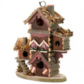 Multi-Level Wood Bird Lodge